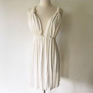Shay & Ingi White Cross Back Mini Dress